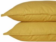 Gele Wehkamp home perkalkatoenen (hotel) slopen (set van 2)