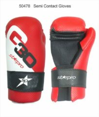 Semi-contact bokshandschoenen Starpro | rood-wit-zwart L