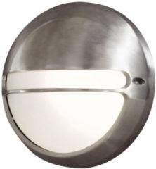 Konstsmide Torino 7333-000 Buitenlamp (wand) Energielabel: Afhankelijk van de lamp Spaarlamp, LED E27 60 W Aluminium (geborsteld)