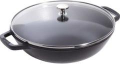 Kleiner Wok 30 cm schwarz, Schwarz Staub schwarz