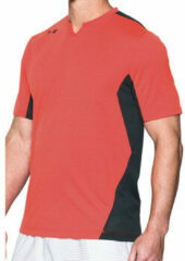 Oranje T-shirt Korte Mouw Under Armour Pitch II Threadborne SS Tee