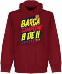 Retake Barcelona Campion 8 de 11 Hoodie - Donker Rood - S