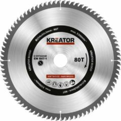 Kreator KRT020429 Zaagblad hout 254 mm -80T