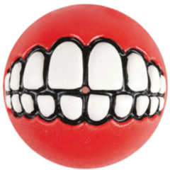 Rogz Grinz Treat Ball Small - Hondenspeelgoed - Rood S