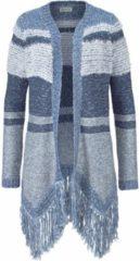 Lichtblauwe BOYSEN´S, Dames Gebreid vest, blauw / lichtblauw