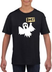 Shoppartners Halloween - Halloween spook t-shirt zwart jongens en meisjes - Halloween kostuum kind XL (158-164)