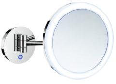 Vergrotingsspiegel Smedbo Outline Draaibaar met LED PMMA Dual Light Warm-Koel Hardwiring Chroom
