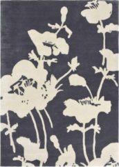 Florence Broadhurst - Floral 300 39604 Vloerkleed - 120x180 cm - Rechthoekig - Laagpolig Tapijt - Klassiek - Zwart wit