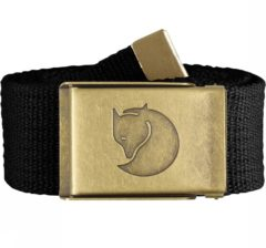 Zwarte Fjällräven Fjallraven Canvas Brass Belt 4 cm Kledingriem - Unisex - Black