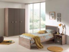 Vipack Furniture Vipack Jugendzimmer Emiel 3-tlg., Kleiderschrank 3-trg.