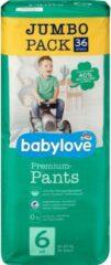 Babylove Premium Pants luirbroekjes - Maat 6 - XXL - 18-30 kg , jumbopak - 36 stuks