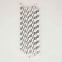 Zilveren My Little Day - Papieren Rietjes - 25 stuks - 19cm