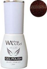 Bruine Gellex White Angel Gellex Deluxe Gel Polish, gellak, gel nagellak, shellac - Misty Diamonds 233