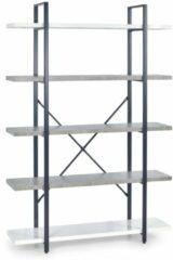 Home Style Wandrek Stunno 178 cm hoog in wit met grijs beton