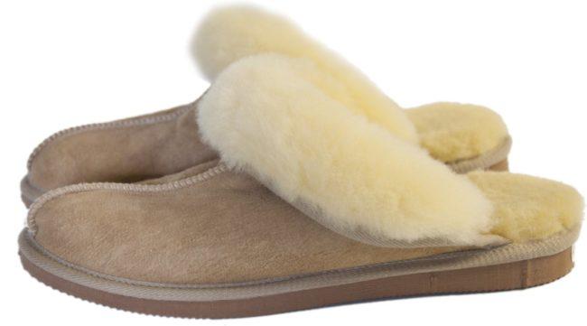 Afbeelding van Van Buren Bolsward BV Schapenvacht pantoffels - Lamsvacht dames slippers - Camel - Maat 36