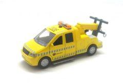 Gele Kids Globe Afsleepwagen - Speelgoedvoertuig: 13 cm