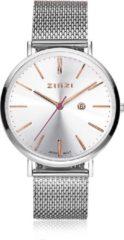 Zinzi Horloge Retro zilver + Gratis armband ZIW412M