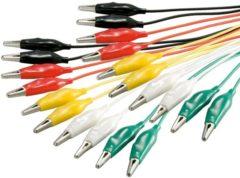 Rode Goobay Test kabel set met krokodillenklemmen - 10 kabels / middel - 0,50 meter