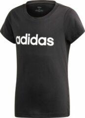 Zwarte Adidas - YG Esssentials Linear Tee - Kinderen - maat 116