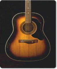 MousePadParadise Muismat Akoestische gitaar - Akoestische gitaar op een zwarte achtergrond muismat rubber - 19x23 cm - Muismat met foto