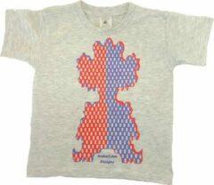 Antraciet-grijze B & C Anha'Lore Designs - Clown - T-shirt - Antraciet - 5/6j (110/116)