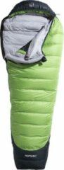 Nordisk Celsius mummy slaapzak -10°, l size groen/zwart Uitvoering links