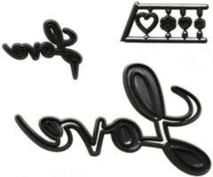 Zwarte PatchworkCutter Patchwork Cutter Love Script