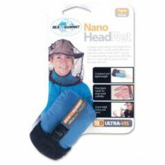 Zwarte Sea to Summit Nano Headnet Muggennet - Muskieten hoed - Grijs - 11g