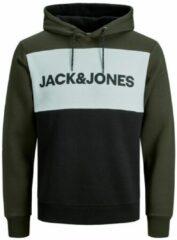 Jack & Jones Jack and Jones Hoodie Groen Met Zwarte Achterkant Regular Fit - S