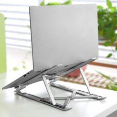 Zilveren Basic Universele Verstelbare & Opvouwbare Laptop Standaard - Anti slip - Aluminium