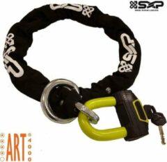 Zwarte SXP Kettingslot ART 4 100cm + loop Scooterslot / Motorslot