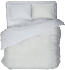 Licht-grijze Snoozing Linnen - Dekbedovertrek - Eenpersoons - 140x200/220 cm + 1 kussensloop 60x70 cm - Silver grey