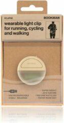 Bookman Eclipse Fietsverlichting - LED Achterlicht - Oplaadbaar via USB - Compact Design - Waterproof - Beige
