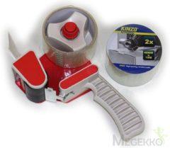 Transparante Tapedispenser incl. 2 rollen tape
