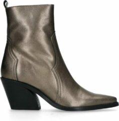 Grijze Manfield - Dames - Bronzen leren western boots - Maat 38