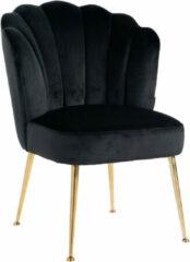 Richmond Interiors Richmond Eetkamerstoel 'Pippa' Velvet, kleur Zwart / Goud