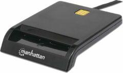 Manhattan 102049 smart card reader Binnen Zwart USB 2.0