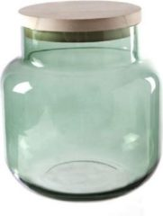 Cosy @ Home WIND LIGHT groen CYLINDRICAL GLASS 18X18XH19
