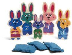 Bs Toys Balwerpen Bunnies 12-16 Cm Hout 8-delig