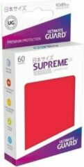 Rode Ultimate Guard Supreme UX Sleeves Japanese Size Red (60)