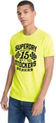Gele T-shirt Korte Mouw Superdry M1010259A
