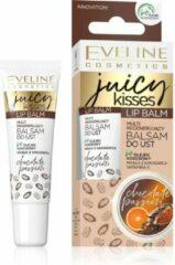 Eveline Cosmetics Eveline - Lip Balm Juicy Kisses Regenerating Lotion To Mouth Chocolate Passion 12Ml