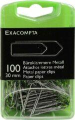 Exacompta 10x Doos met 100 metalen paperclips 30mm, Zilver