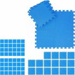 Blauwe Relaxdays 72 x fitness matten - schuimstof - beschermmat - sportmat - puzzelmat - vloermat