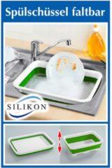 Faltbare Spülschüssel, eckig Wenko weiß/grün