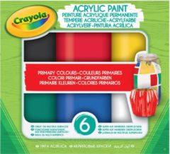 Gele Acryl verf Primaire tinten Crayola 6 stuks