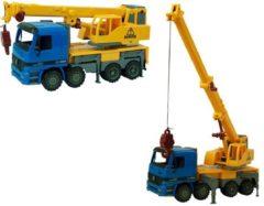 Massamarkt Takelwagen 40cm Geel/blauw