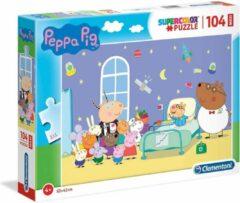 Clementoni Legpuzzel Peppa Pig Ziekenhuis 104 Stukjes 62 X 42 Cm