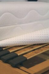 Witte Optinop matrasbeschermer 90x200 cm