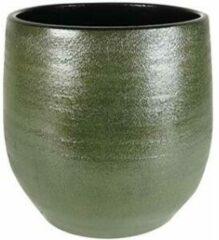 Donkergroene Ter Steege Pot Zembla groen bloempot binnen 30 cm